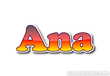 ana logo free name design tool from flaming text
