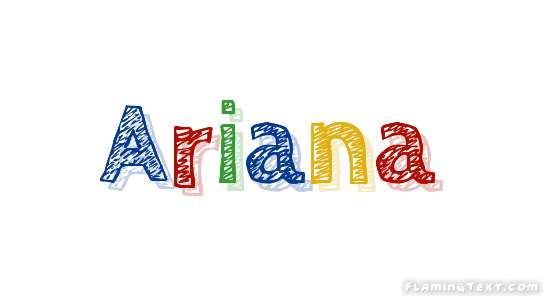 Ariana Logo | Free Name Design Tool from Flaming Text