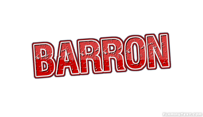 Barron Logo | Free Name Design Tool from Flaming Text