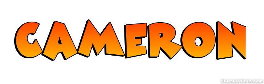 cameron logo free name design tool from flaming text
