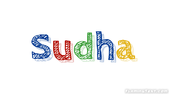 sudha logo free name design tool from flaming text