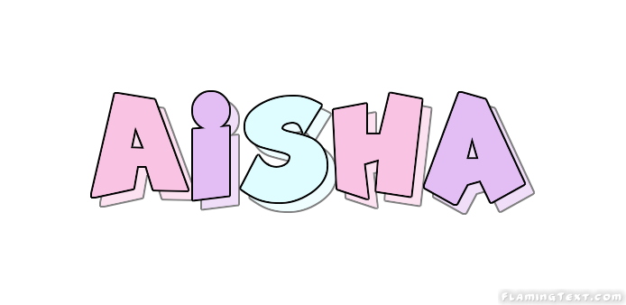 Aisha Logo | Free Name Design Tool from Flaming Text