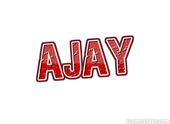 ajay logo free name design tool from flaming text