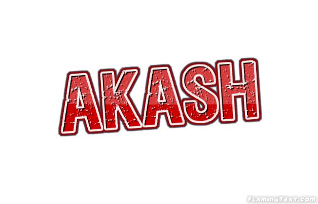 Akash Logo | Free Name Design Tool from Flaming Text