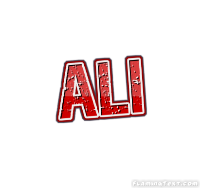 ali logo free name design tool from flaming text