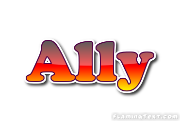 Ally Logo | Free Name Design Tool from Flaming Text