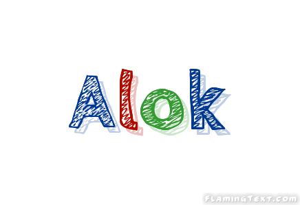 Alok Logo | Free Name Design Tool from Flaming Text