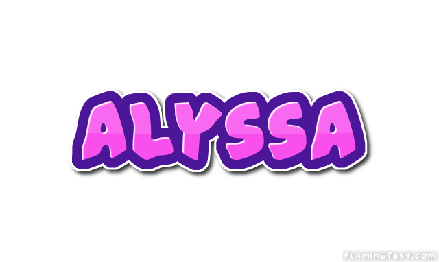 Alyssa Logo | Free Name Design Tool from Flaming Text