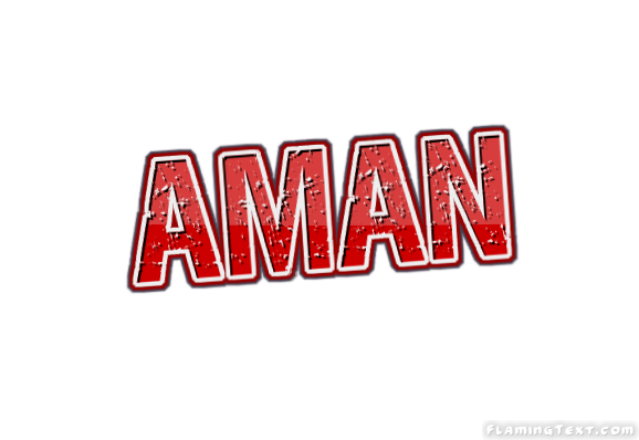 aman logo free name design tool from flaming text