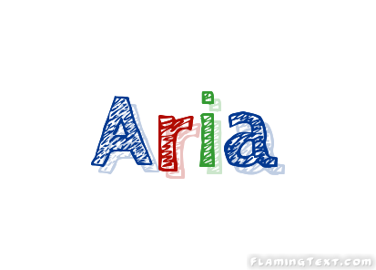 Aria Logo | Free Name Design Tool from Flaming Text