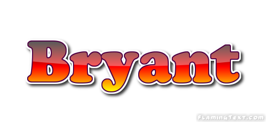 newest c00a3 a2aa7 Bryant Logo   Free Name Design Tool from Flaming Text