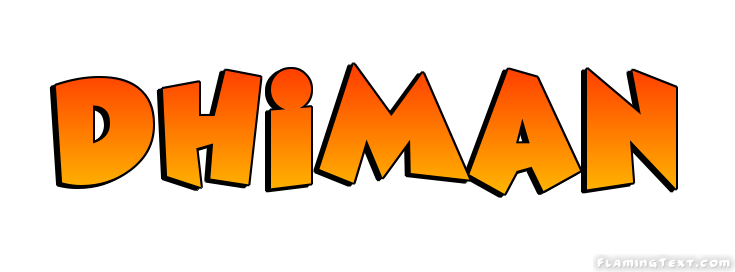 Dhiman Logo | Free Name Design Tool from Flaming Text