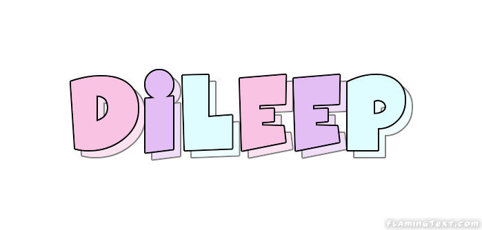 Dileep Logo | Free Name Design Tool from Flaming Text