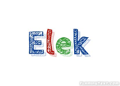 Elek Logo Besplatnyj Instrument Dlya Dizajna Imeni Ot Flaming Text