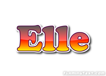 Elle logo free name design tool from flaming text for Elle decor logo