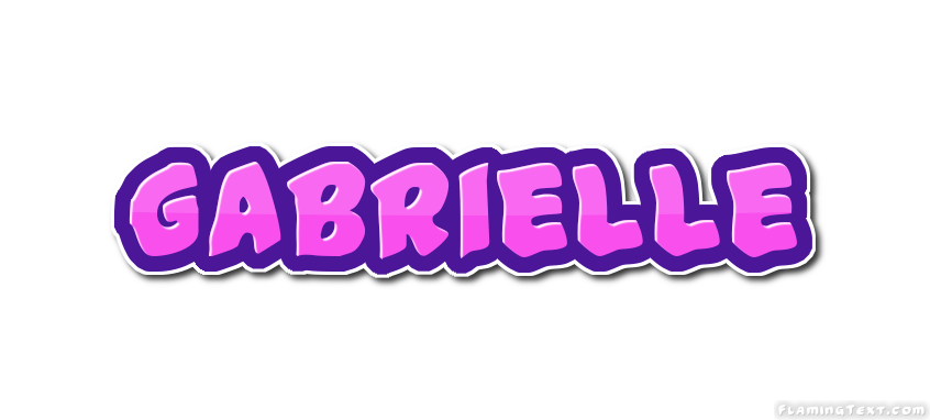 gabrielle logo free name design tool from flaming text