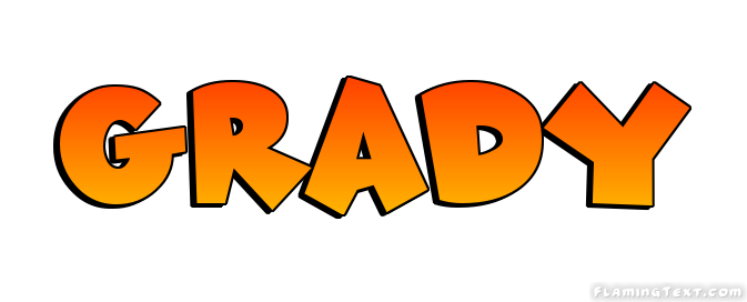 Grady Logo   Free Name Design Tool from Flaming Text