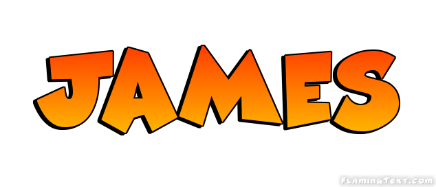 James Logo   Free Name Design Tool from Flaming Text