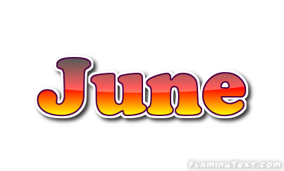 June First Name Logo