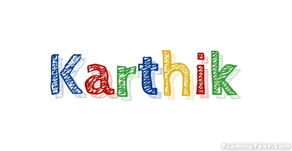 Karthik Logo | Free Name Design Tool from Flaming Text