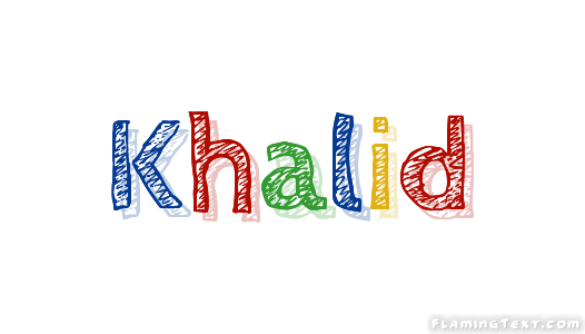Khalid Logo Free Name Design Tool From Flaming Text