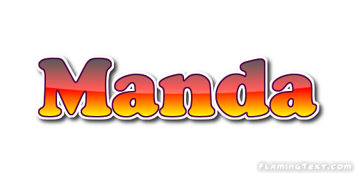 manda logo free name design tool from flaming text