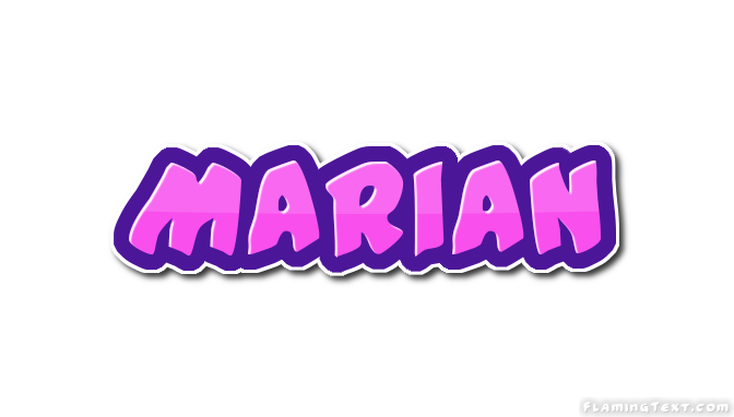 Marian Logo   Free Name Design Tool from Flaming Text
