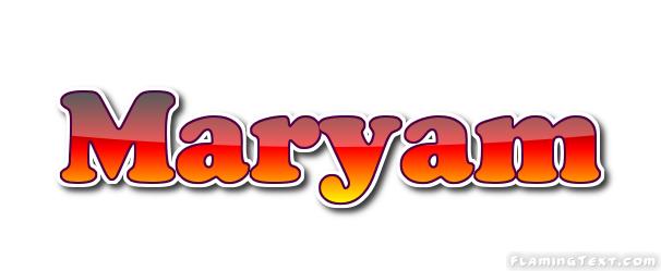 Maryam Logo   Free Name Design Tool from Flaming Text
