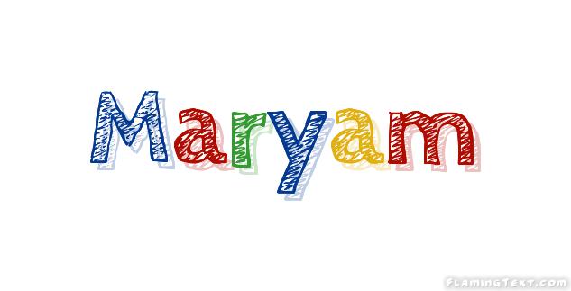Maryam Logo | Free Name Design Tool from Flaming Text