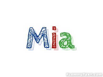 Mia Logo | Free Name Design Tool from Flaming Text