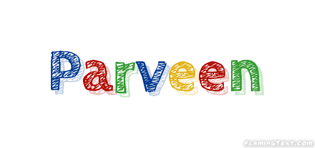 Parveen Logo | Free Name Design Tool from Flaming Text