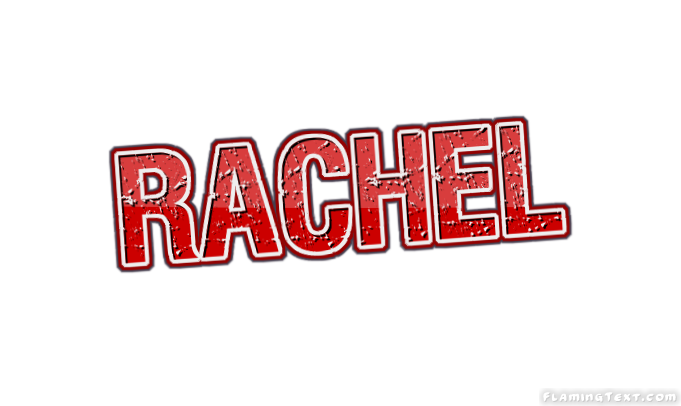 rachel logo free name design tool from flaming text