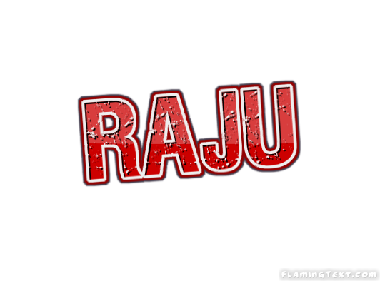 Raju Logo Free Name Design Tool From Flaming Text