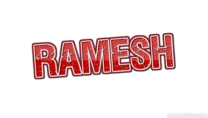 Ramesh Logo | Free Name Design Tool from Flaming Text