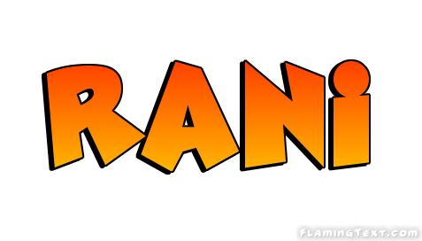 Rani Logo Free Name Design Tool From Flaming Text