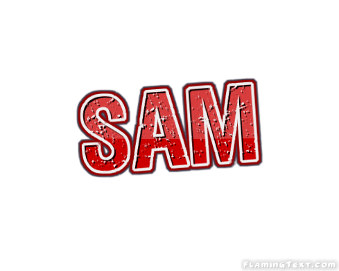Sam Logo Free Name Design Tool From Flaming Text