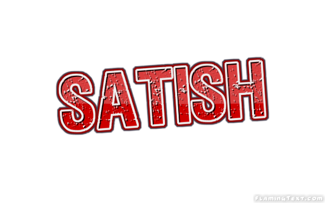 Satish Logo Free Name Design Tool From Flaming Text