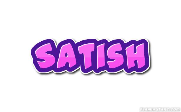 Satish Logo | Free Name Design Tool from Flaming Text