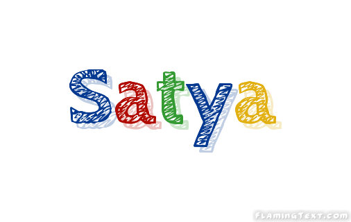 Satya Logo | Free Name Design Tool from Flaming Text