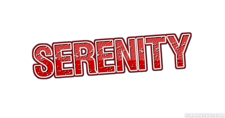 Serenity Logo   Free Name Design Tool from Flaming Text