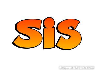 Sis شعار | اسم أداة تصميم مجانية من النص المشتعلة