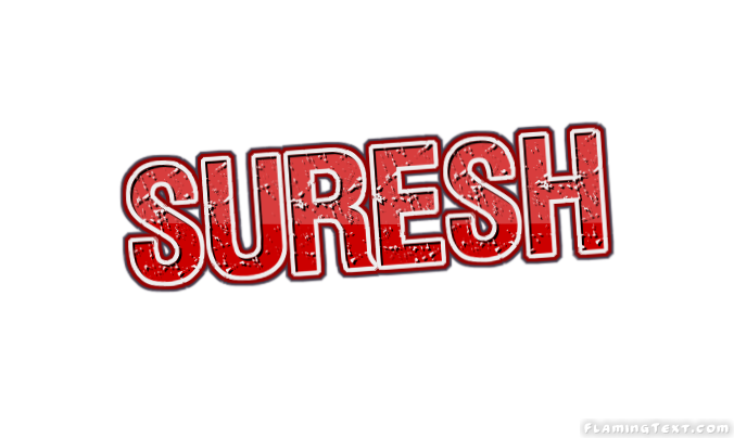 suresh logo free name design tool from flaming text