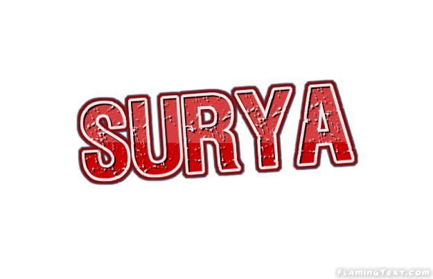 surya logo free name design tool from flaming text