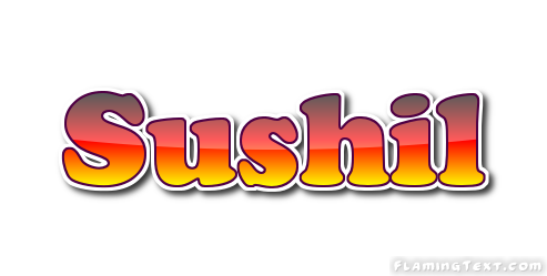 Sushil Logo Free Name Design Tool From Flaming Text
