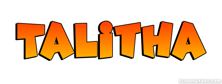 Talitha Logo | Free Name Design Tool from Flaming Text
