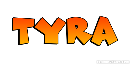 Tyra Logo | Free Name Design Tool from Flaming Text