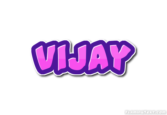 Vijay Logo | Free Name Design Tool from Flaming Text