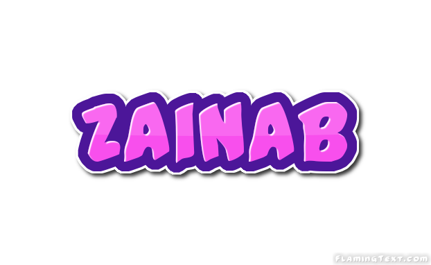 Zainab Logo | Free Name Design Tool from Flaming Text